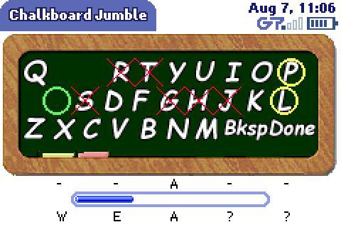 Chalkboard Jumble