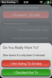 Stop Smoking - Main Screen