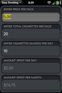 Stop Smoking - Calculator